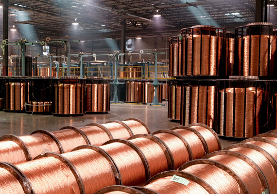 Copper futures up on rising demand